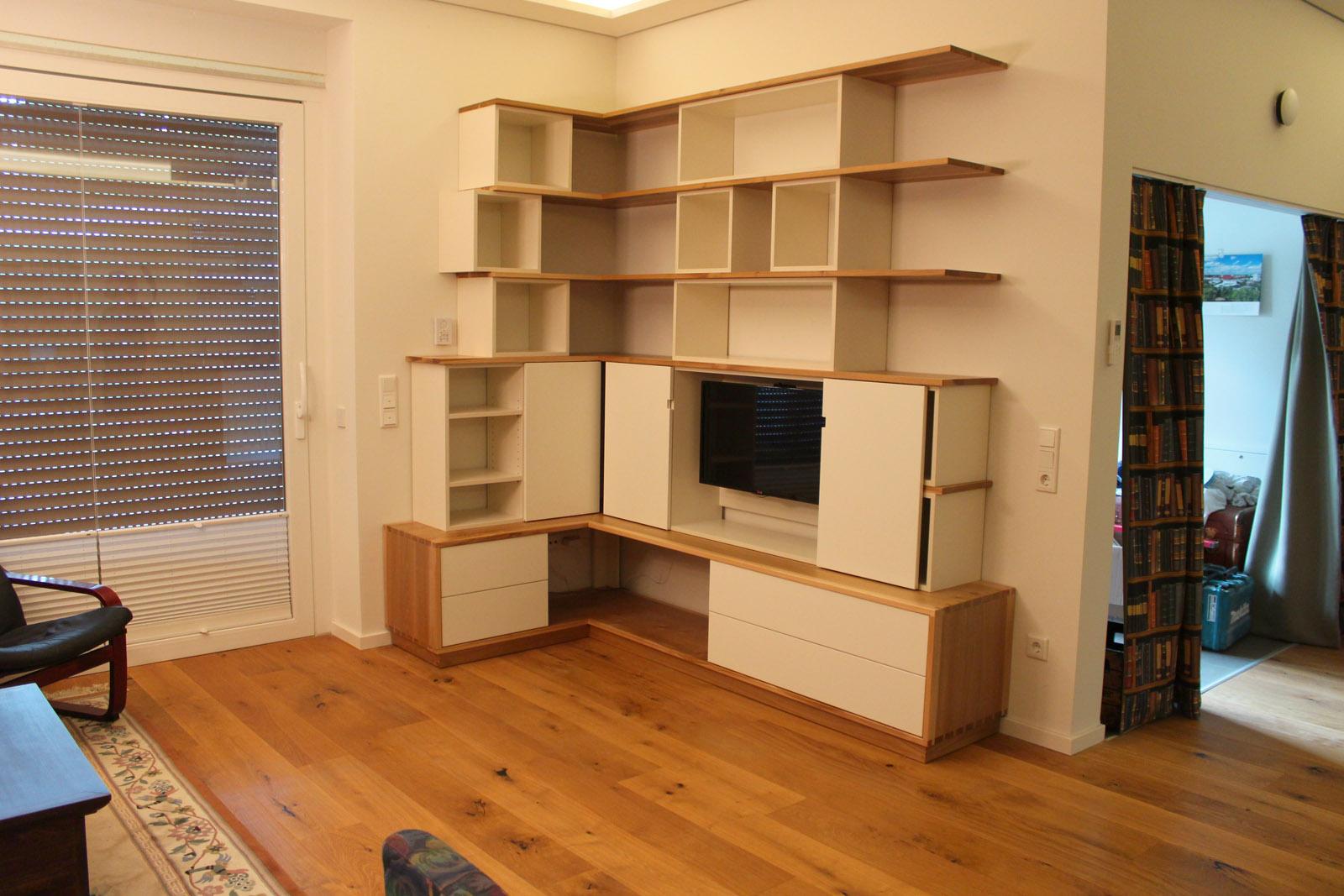 Wohnzimmer TV Möbel Rüster & Weißlack - Projektwerkstatt HOLZ